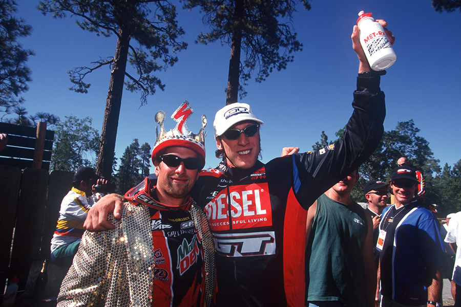 Steve Peat and Shaun Plamer. Big Bear, CA, 1999.